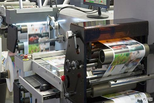 Impresora de las hojas de publicidad